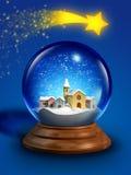 Glass snowboll Royaltyfri Bild