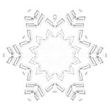 Glass Snowflake Royalty Free Stock Photo