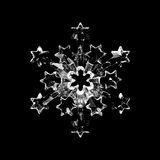 Glass snowflake Royalty Free Stock Photography