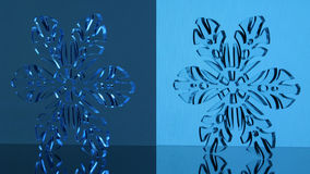 Glass snowflake Stock Image