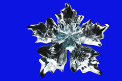 Glass snowflake flower Royalty Free Stock Image
