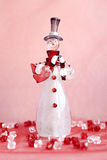 Glass snowman Stock Photography