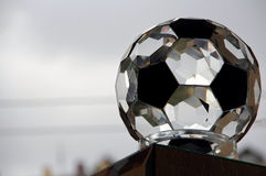 Glass soccer ball Royalty Free Stock Photos