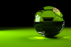 Glass soccer ball Royalty Free Stock Photography