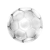 Glass soccer ball. Isolated on white background stock photography