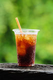 Glass of soft drink Royalty Free Stock Images