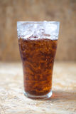 Glass of soft drink with ice Stock Image
