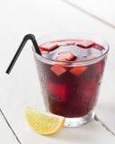 Glass of Spanish sangria Stock Photo
