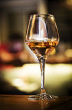 Glass of spanish sherry wine on bar counter royalty free stock photography