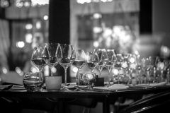 Glass sparkles in the night Royalty Free Stock Image