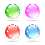Glass sparkling ball Stock Images