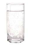 Glass of sparkling mineral water Stock Image
