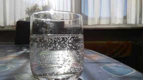 Glass of Sparkling water Royalty Free Stock Photography