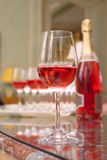 Glass of sparkling wine Stock Photos