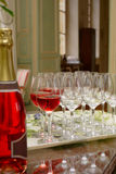 Glass of sparkling wine Stock Photo