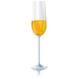 A glass of sparkling wine Royalty Free Stock Photos