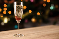 A glass of sparkling wine with jam Stock Photography
