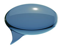 Glass speech bubble Royalty Free Stock Photography