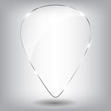 Glass Speech Bubble. Vector illustration. Stock Images