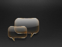 Glass speech bubbles Stock Photos