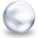 Glass sphere. Icon for web and print usage Stock Photos