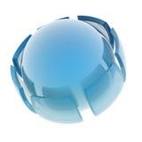 glass sphere Arkivbilder