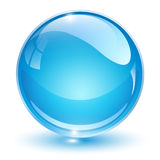 Glass sphere blue Royalty Free Stock Images