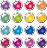 Glass sphere button. Set of round glass buttons Royalty Free Stock Photography