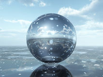 Glass Sphere. Computer generated 3D illustration with a glass sphere Stock Images