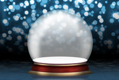 Glass sphere empty. Christmas scenery created by means of computer technology Stock Photos