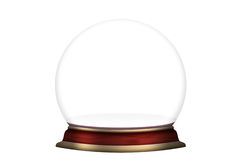 Glass sphere empty isolated Royalty Free Stock Photos