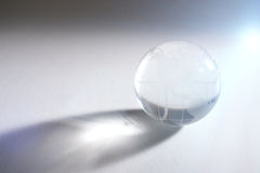 Glass sphere with global map Stock Photo