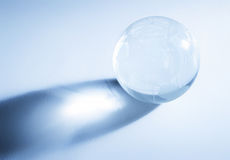 Glass sphere with global map Royalty Free Stock Image