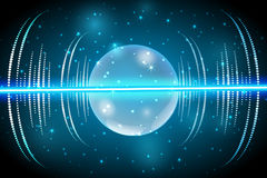 Glass sphere of glowing lights effects isolated on transparent background Royalty Free Stock Photos