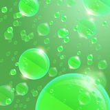 Glass sphere green Royalty Free Stock Photo