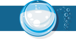 Glass sphere. Icon for design Stock Photos