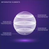 Glass sphere infographic Royalty Free Stock Photo