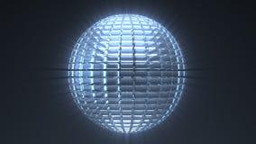 Glass sphere loop background stock video