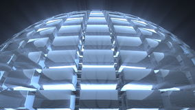 Glass sphere loop background stock footage