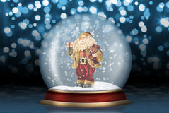 Glass sphere with Santa Claus Royalty Free Stock Photo