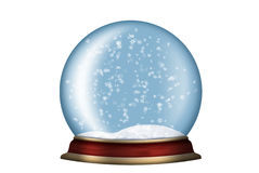 Glass sphere with snow isolated Royalty Free Stock Images