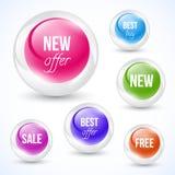 Glass sphere. Vector illustration on white backround. Royalty Free Stock Image