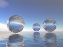 Glass spheres Stock Photos