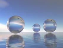 Glass spheres stock photos