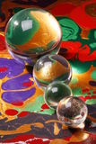 glass spheres Arkivfoto