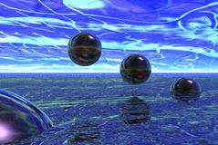 Glass spheres Royalty Free Stock Photo