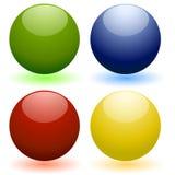 Glass spheres, balls vector illustration