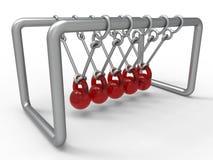 Glass spheres pendulum Royalty Free Stock Images