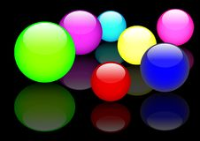 Glass spheres. Vector. Eps10. Royalty Free Stock Photos