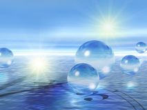 Glass Spheres & Water Stock Images